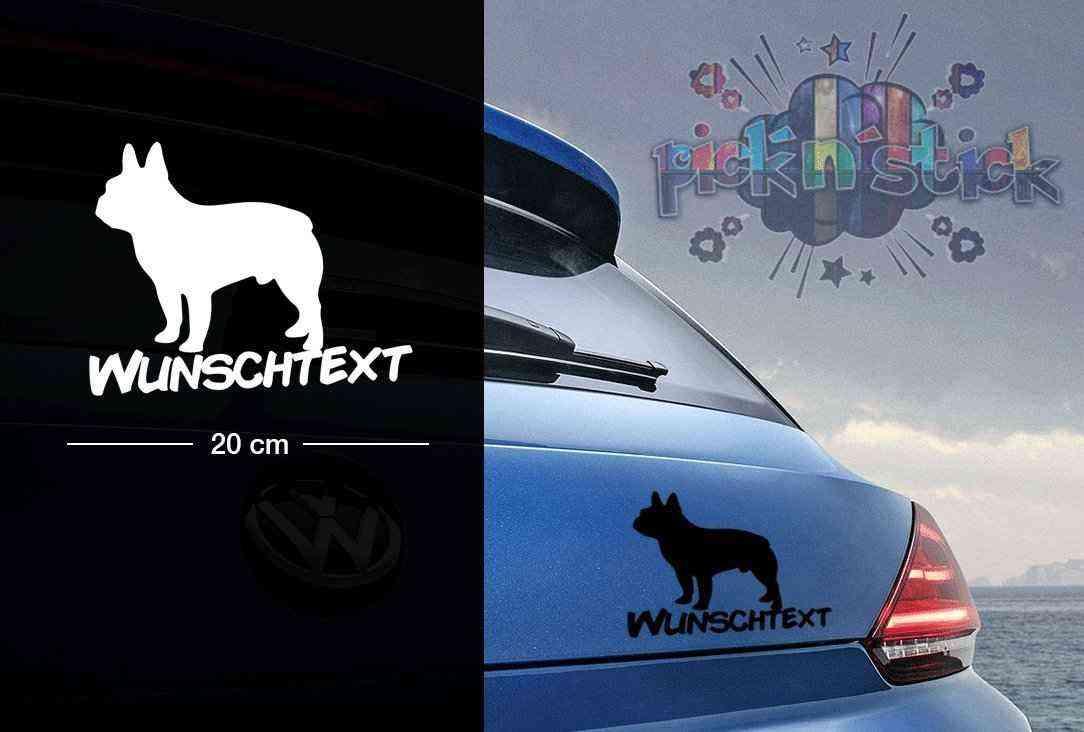 Bull Dog | Tier | Wunschtext | Autoaufkleber | Hund