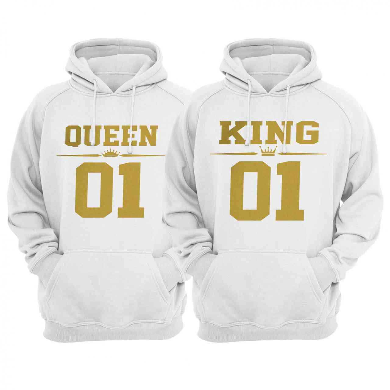 King Queen Partnerlook Hoodie | Pulli | Paar