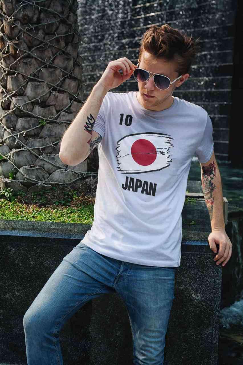 Japan | Männer oder Frauen Trikot T - Shirt mit Wunsch Nummer + Wunsch Name | WM 2018