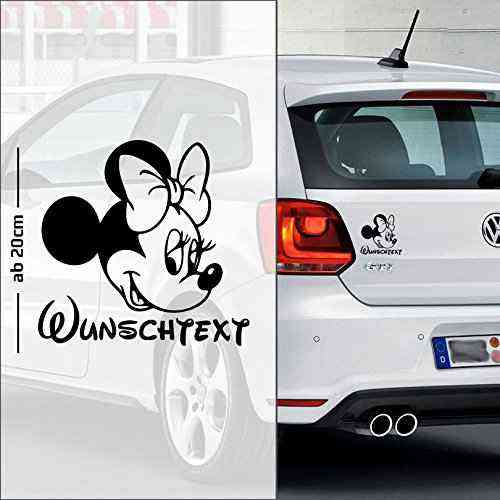 Micky Maus #8 | Baby - Name On Board | Wunschtext | Auto Aufkleber | Minnie Maus | Baby On Board