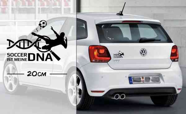 Soccer Fußball ist meine DNA   Fußballer   DNA   Auto Aufkleber   coole Aufkleber   lustige