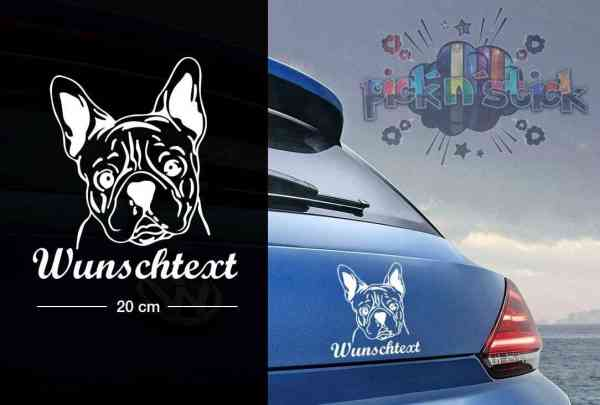 Bulldog #1 | Tier | Wunschtext | Auto Aufkleber | Hund