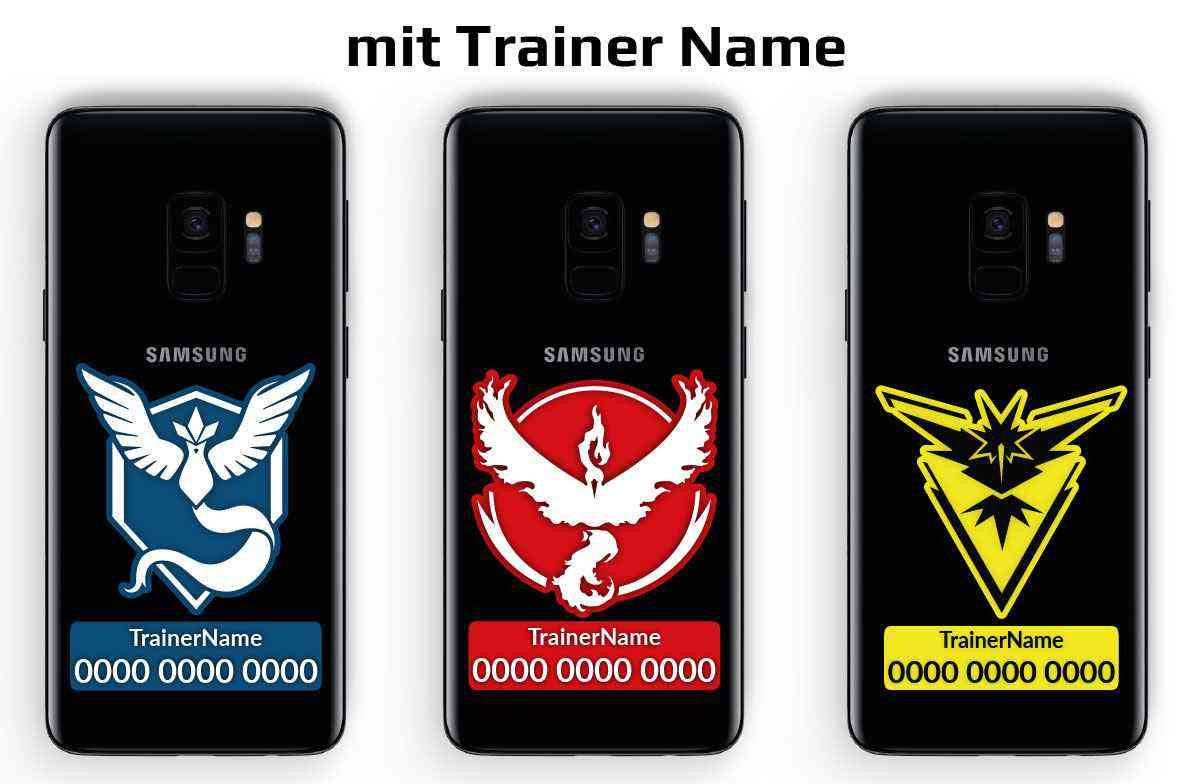 Pokemon Go Team Trainer Code Handy Aufkleber