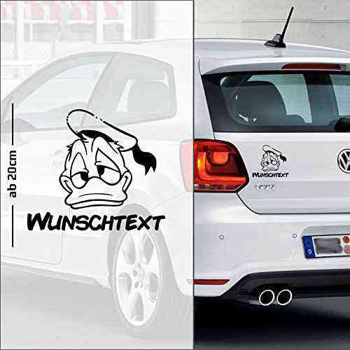 Donald Duck #2 | Baby - Name On Board | Wunschtext | Auto Aufkleber | Baby On Board