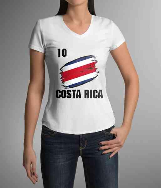 Costa Rica | Männer oder Frauen Trikot T - Shirt mit Wunsch Nummer + Wunsch Name | WM 2018