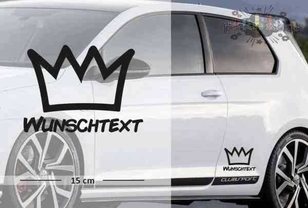 König - Krone | Funny | Wunschtext | Autoaufkleber | Lustig