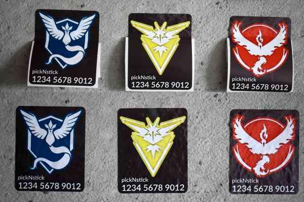 Pokemon Go Team Trainer Code Aufkleber #3 | individuell mit Name und Code | Valor Mystic Instinct