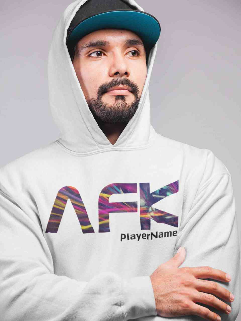 AFK - Away From Keyboard - mit oder ohne Player Name Hoodie Unisex | Gamer | Pulli | Personalisiert