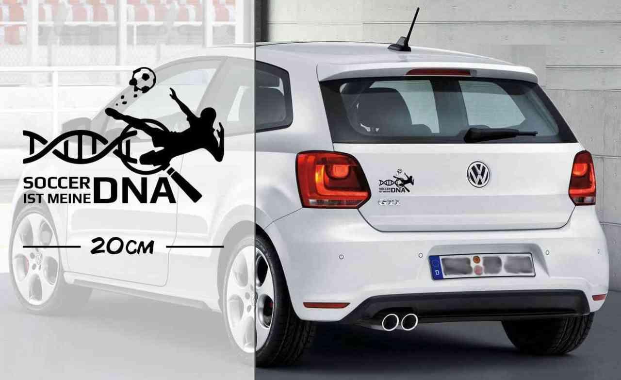 Soccer Fußball ist meine DNA | Fußballer | DNA | Autoaufkleber | coole Aufkleber | lustige