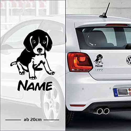 Labrador Retriever | Wunschtext | Name | Auto Aufkleber | Hunde - C