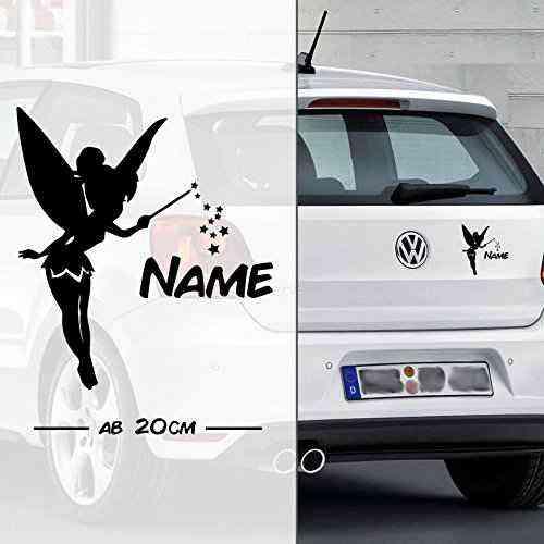 Fee * Fairy * Sternchen mit Name | Autoaufkleber | Elfe Fee Elfen Feen | on Board | Wunschtext