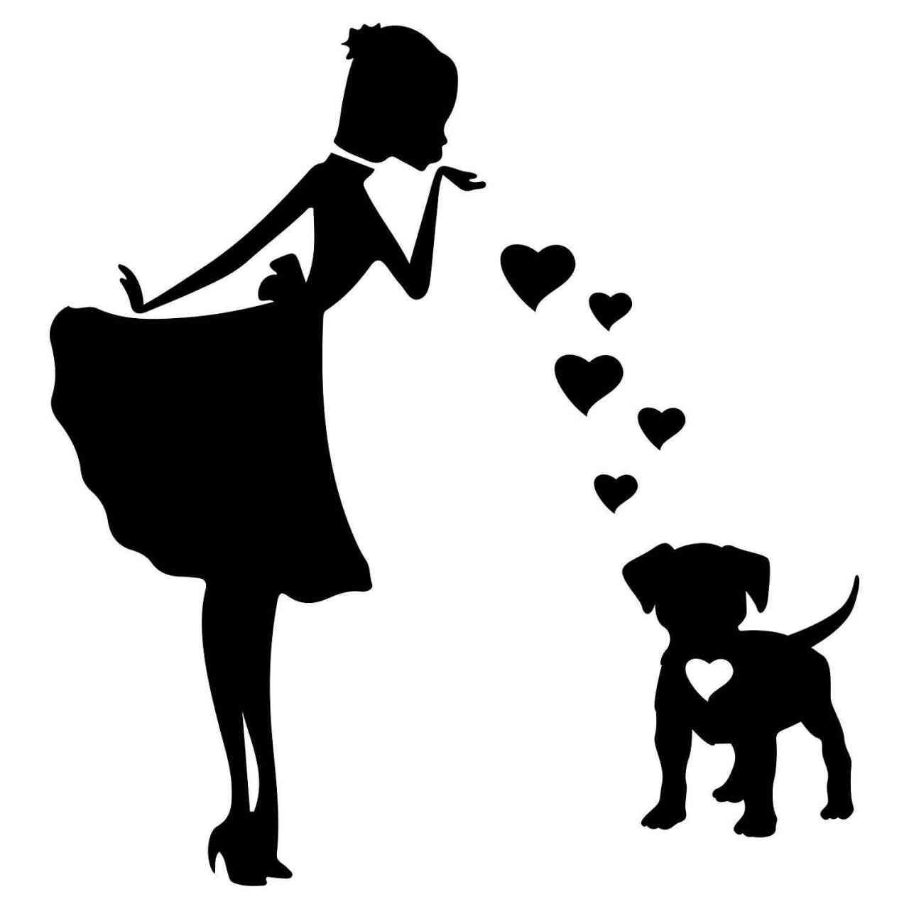 Prinzessin Staff Welpe Herz | Hund | Wunschtext | Autoaufkleber | Decal