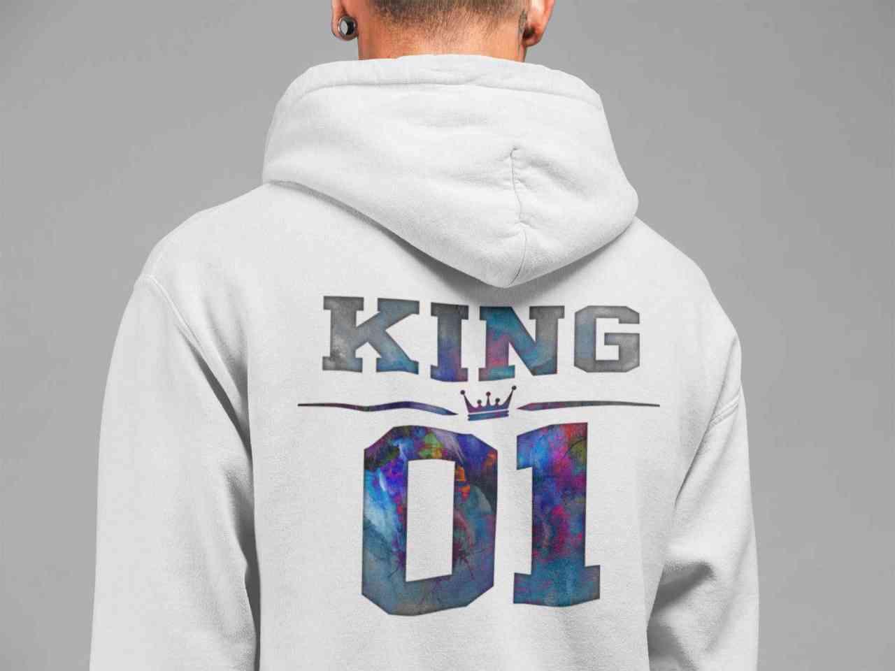 King - Princess - Prince | 2x Hoodie | Papa - Tochter/Sohn | Unisex Pulli