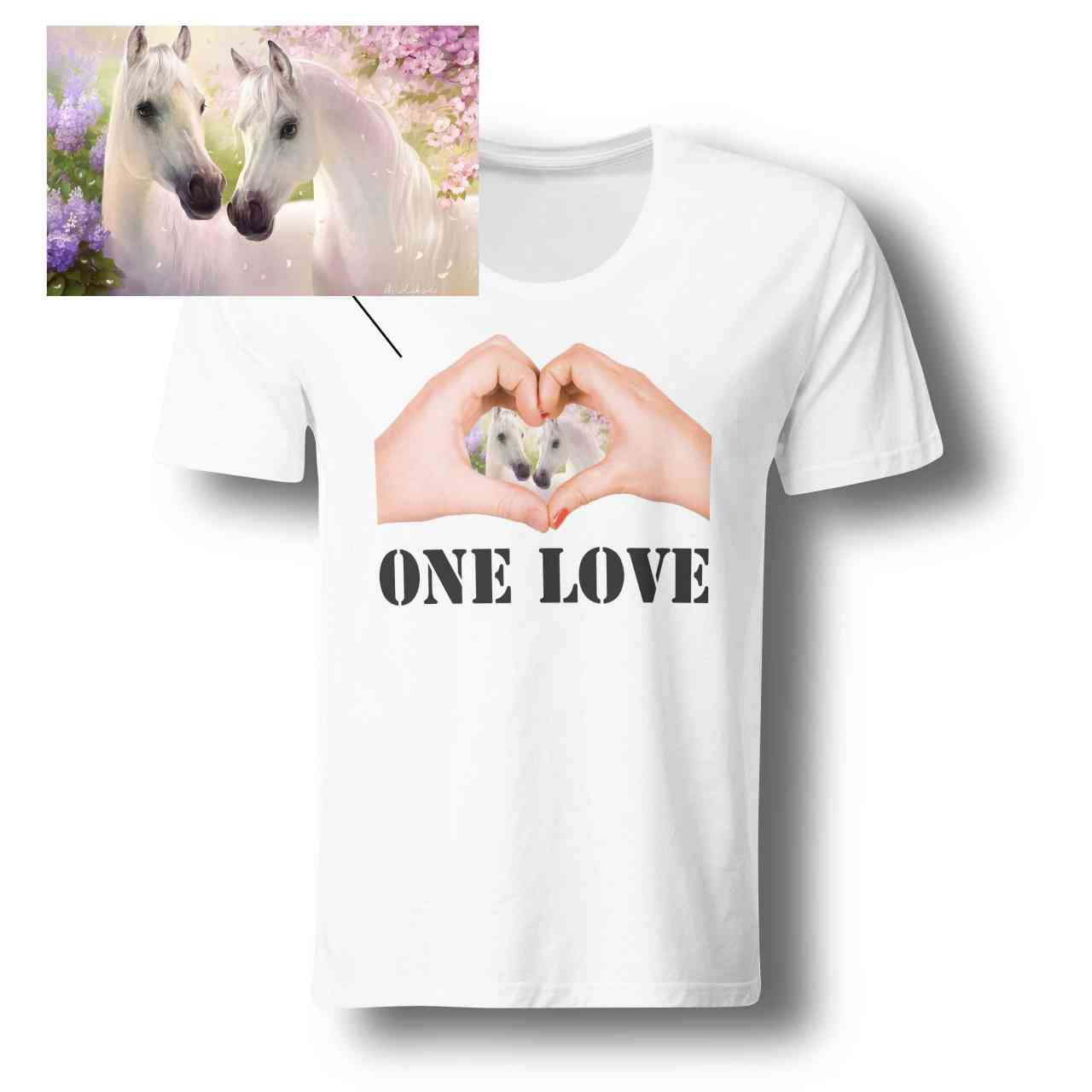 ONE LOVE Foto Shirt 101% individuell