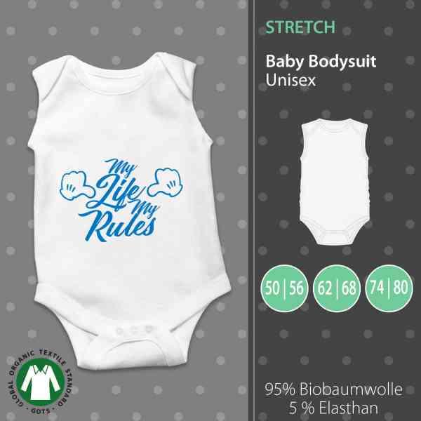 Baby Body Unisex | My Life My Rules | Mein Leben Meine Regel | Fun Baby Body by pickNstick