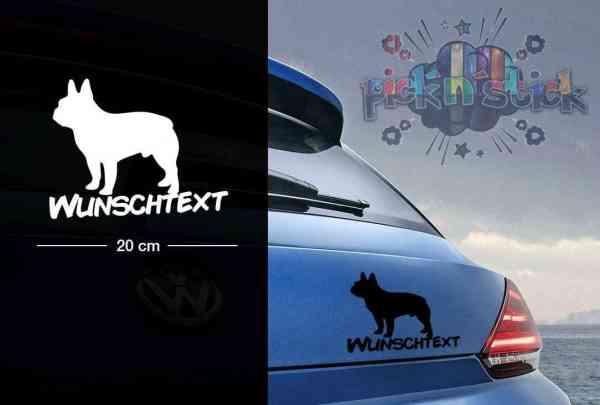 Bull Dog | Tier | Wunschtext | Auto Aufkleber | Hund