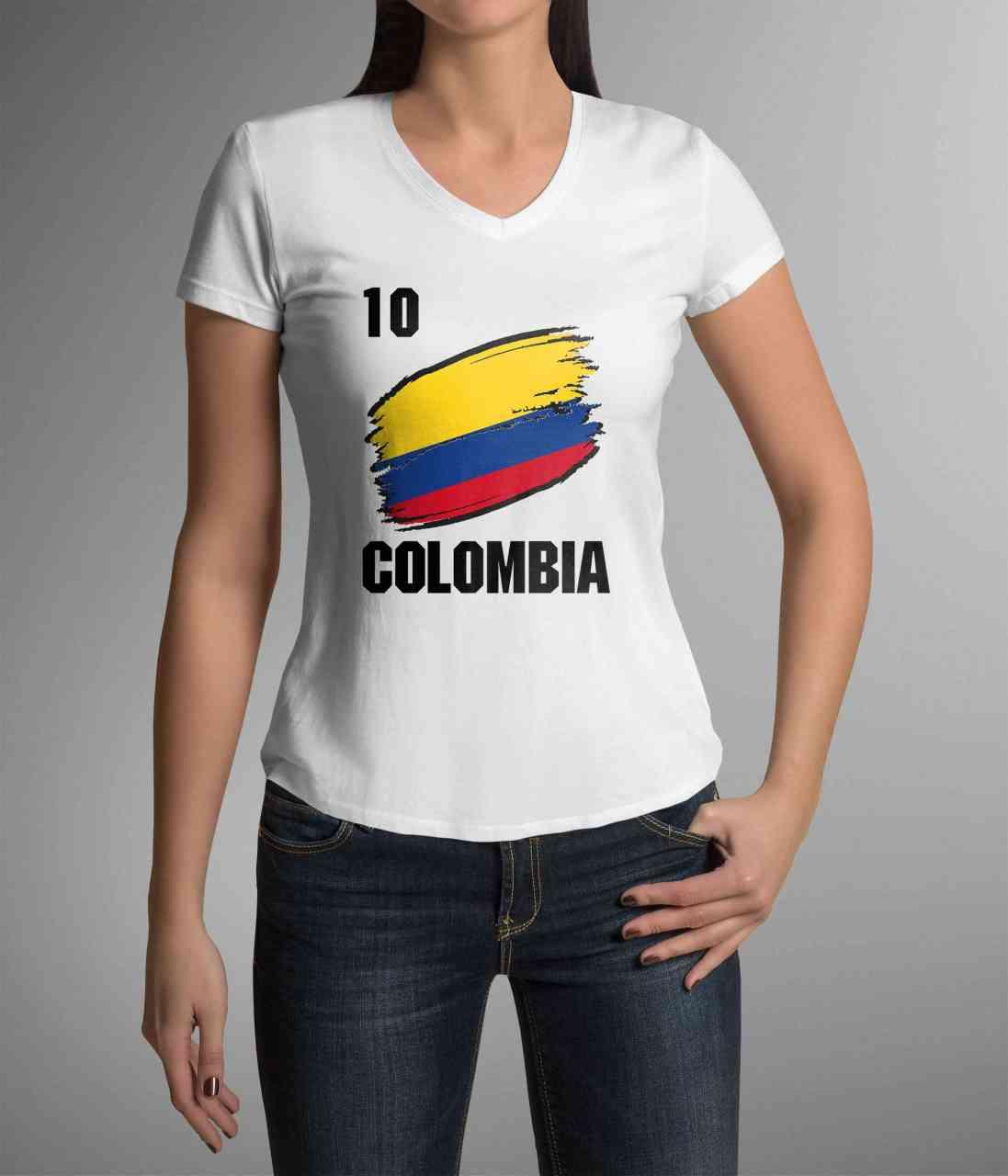 Colombia | Kolumbien | Männer oder Frauen Trikot T - Shirt mit Wunsch Nummer + Wunsch Name | WM 2018