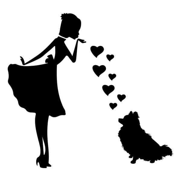 Prinzessin Dobermann Herz | Hund | Wunschtext | Auto Aufkleber | Decal