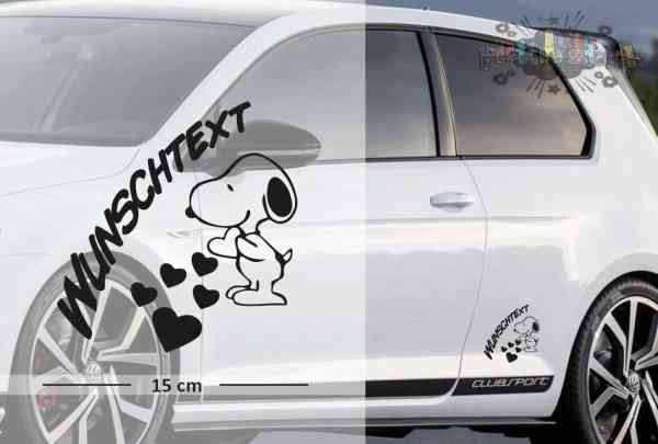 Snoopy #2 | Baby - Name On Board | Wunschtext | Auto Aufkleber | Lustig | Baby On Board
