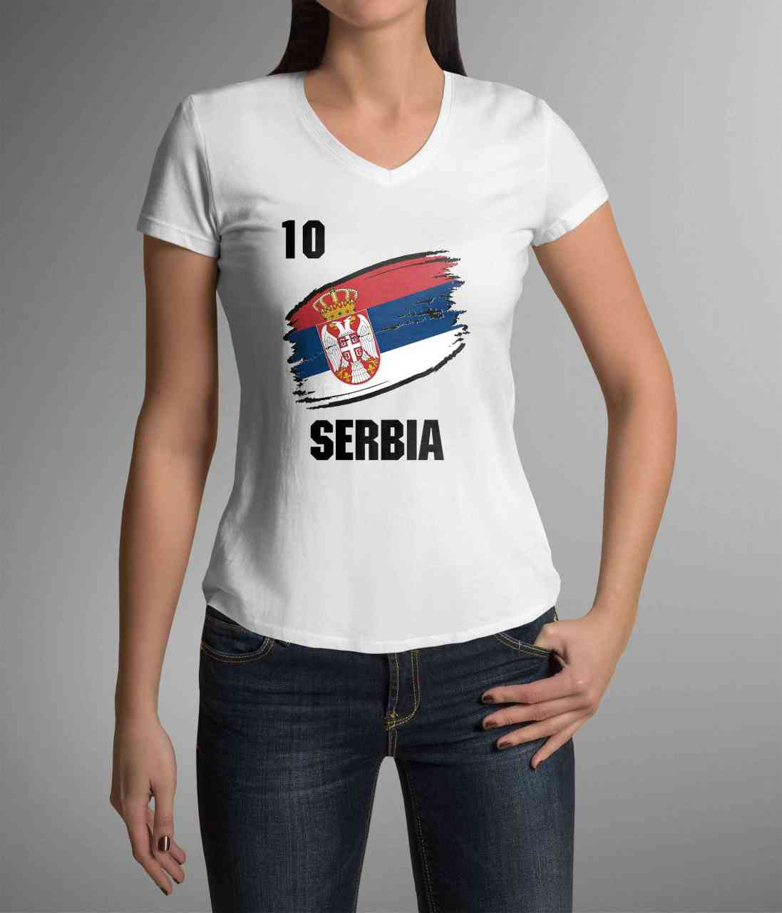 Serbia | Serbien | Männer oder Frauen Trikot T - Shirt mit Wunsch Nummer + Wunsch Name | WM 2018