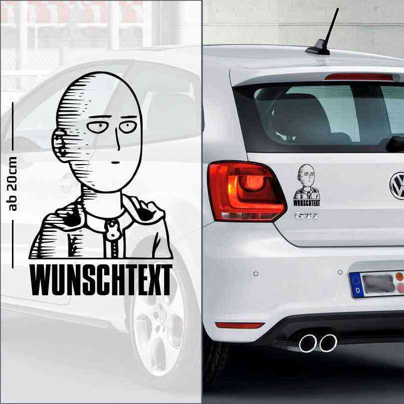 One Punch Man mit Wunschtext Autoaufkleber | individuell | Autoaufkleber | Anime