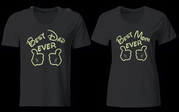 Best Mom & Best Dad - Partner Look | T-Shirt - Funshirt - Shirt | Frau und Mann
