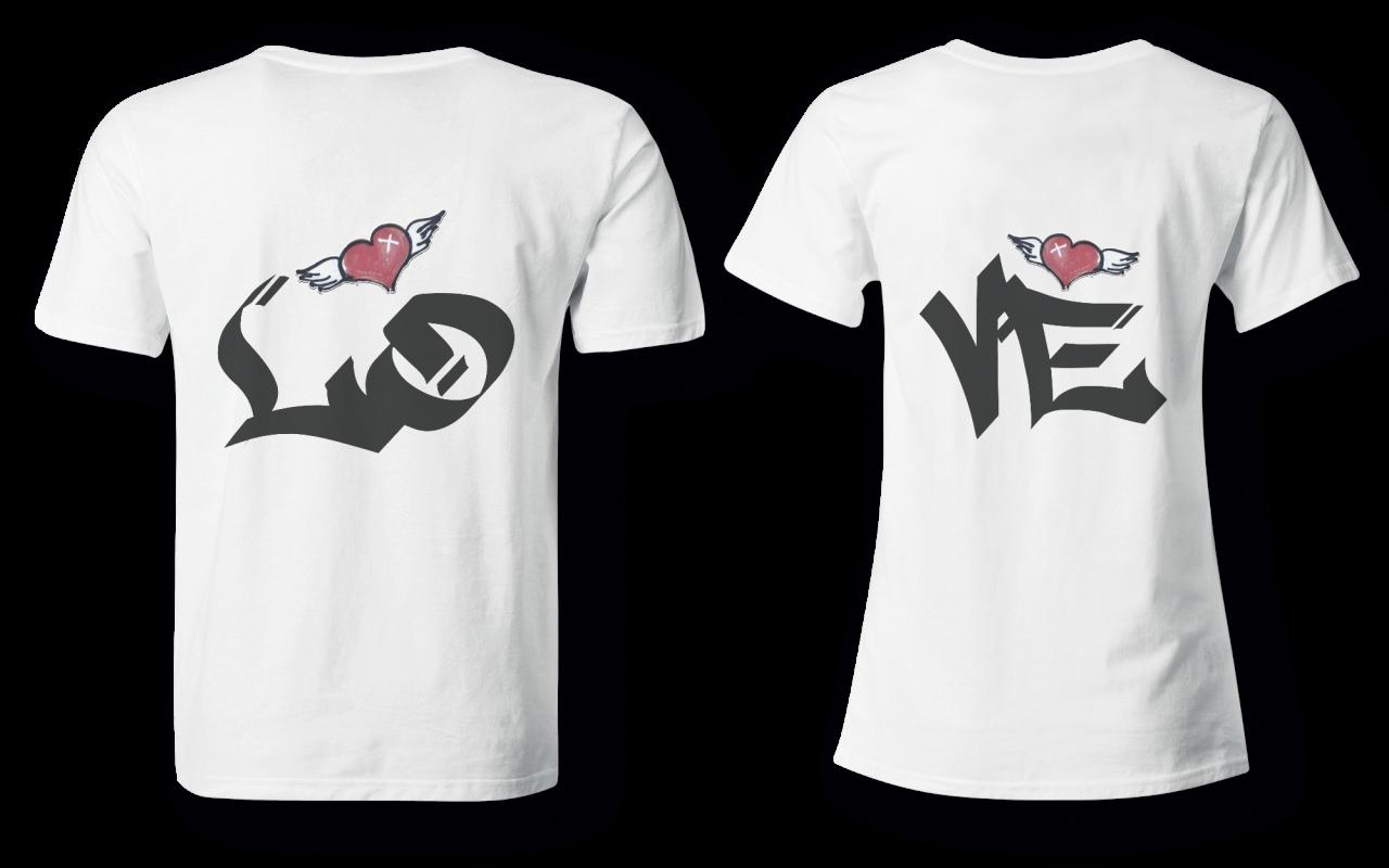 Love - Partner Look | T-Shirt - Funshirt - Shirt | Frau und Mann
