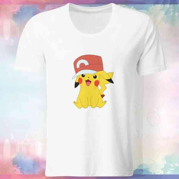 """Pokemon Go Shirt """"Pikachu #1"""" mit Trainer Name und Code"""