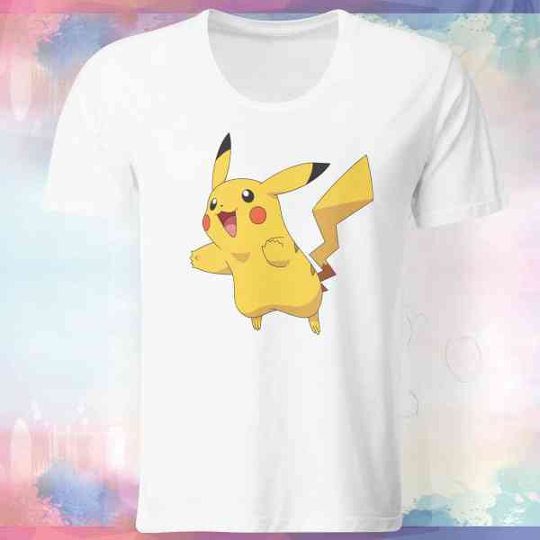 "Pokemon Go Shirt ""Pikachu #3"" mit Trainer Name und Code"