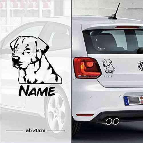 Labrador Retriever | Wunschtext | Name | Auto Aufkleber | Hunde - B