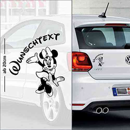Micky Maus #9 | Baby - Name On Board | Wunschtext | Autoaufkleber | Minnie Maus | Baby On Board