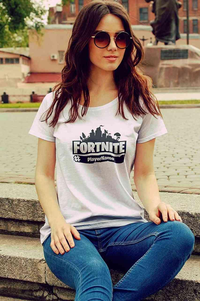 Fortnite Shirt mit Player-Name | Battle Royal | T-Shirt | Männer oder Frauen (Unisex) | E-Sports - G