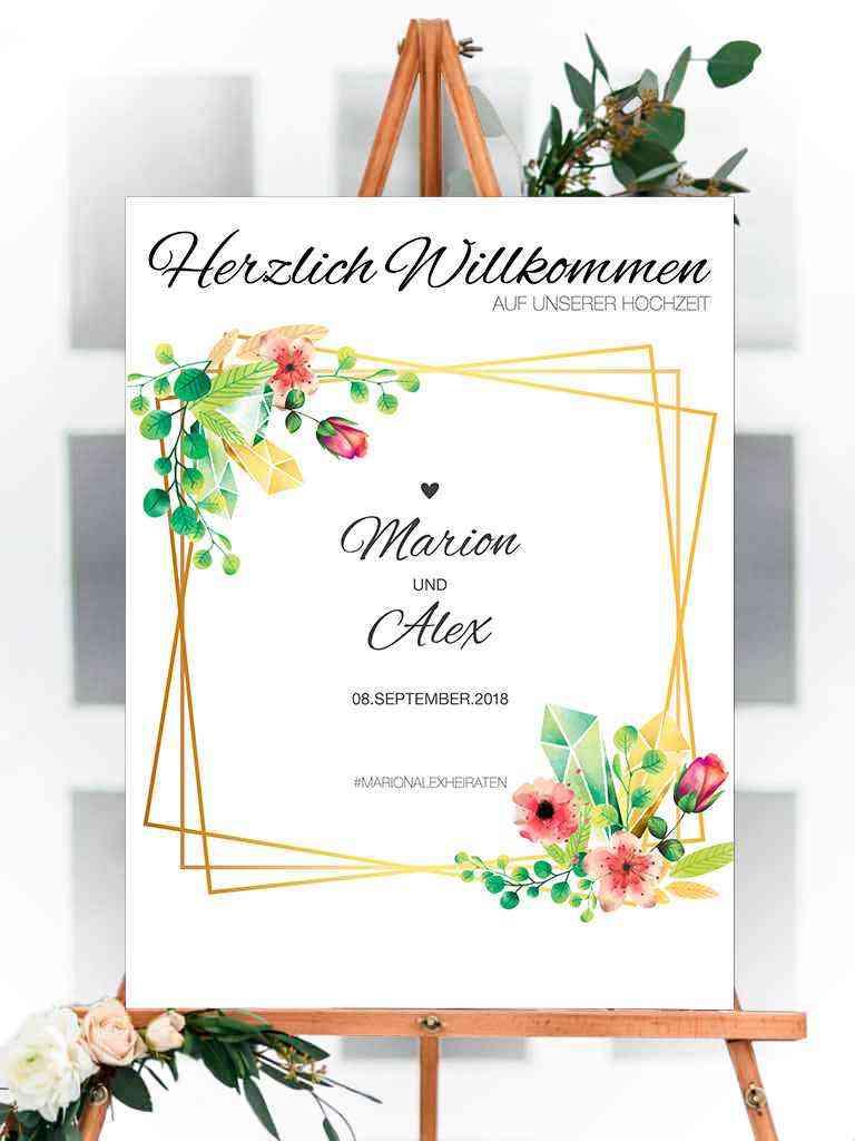 Willkommens Schild - Hochzeit, Party, Geburtstag, Feier | 100x75cm | personalisiert, individuell #2