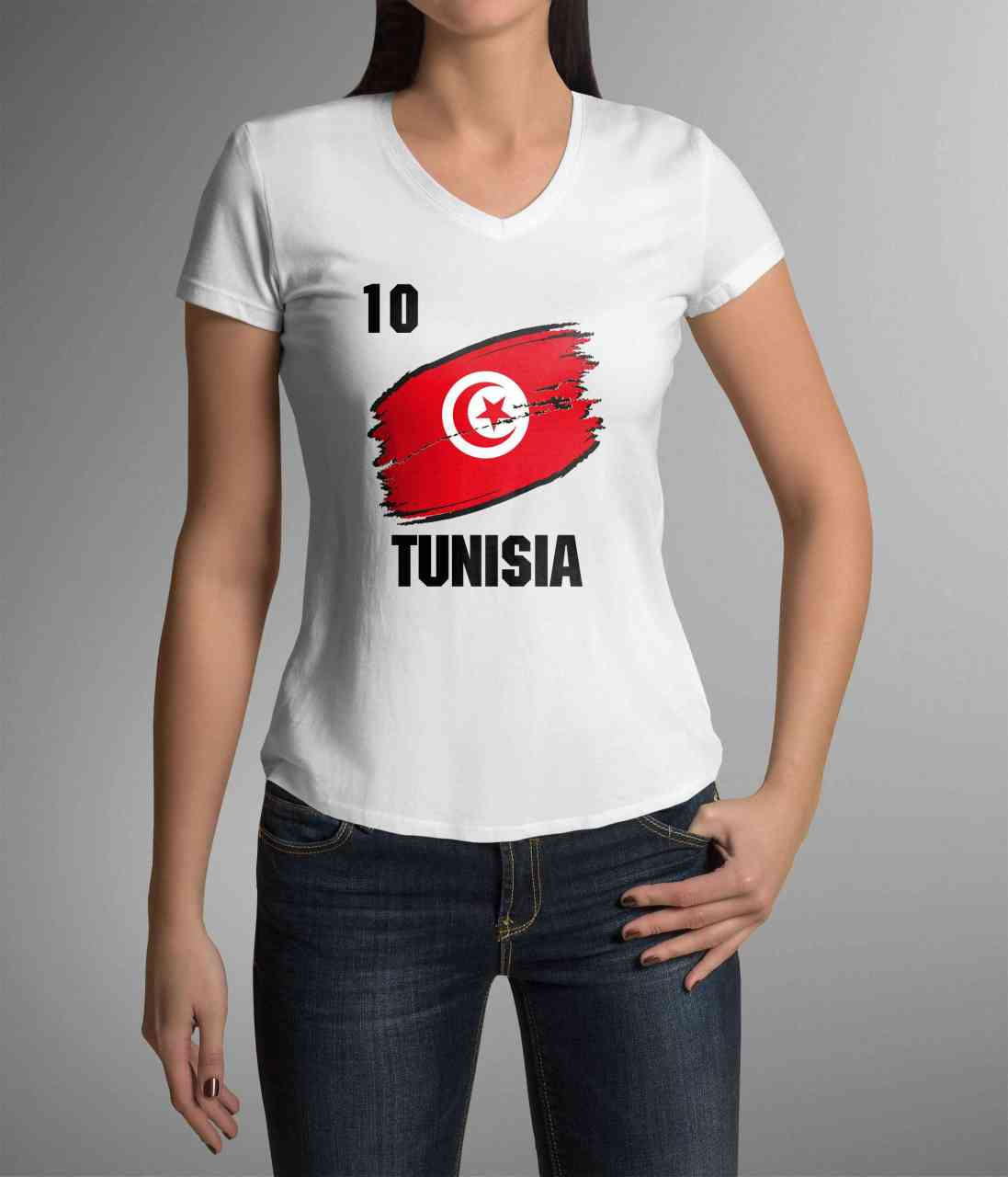 Tunisia | Tunesien | Männer oder Frauen Trikot T - Shirt mit Wunsch Nummer + Wunsch Name | WM 2018