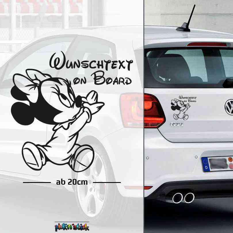 Micky Maus | Baby On Board | Autoaufkleber | Auto Aufkleber | Wunschtext Aufkleber | Name Auto Aufkleber