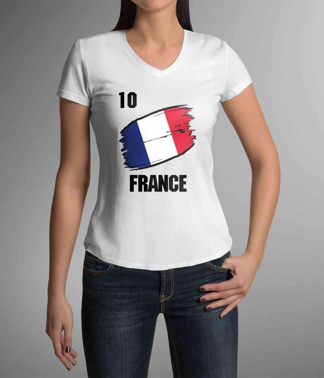 France | Frankreich | Männer oder Frauen Trikot T - Shirt mit Wunsch Nummer + Wunsch Name | WM 2018