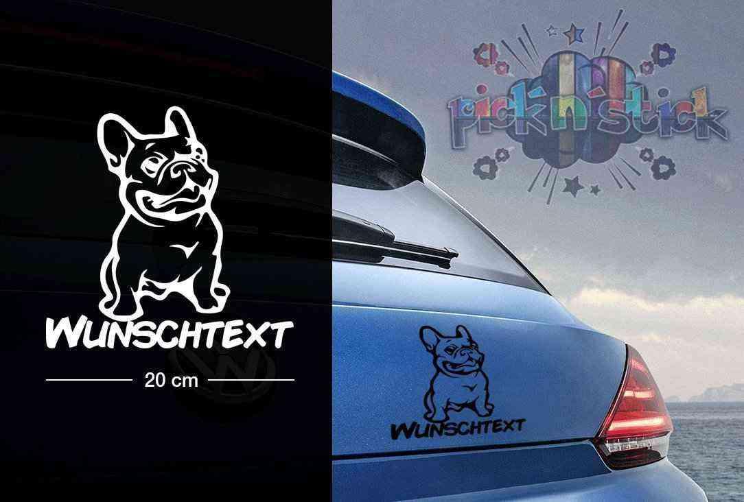 Französischer Bulldog #22 | Tier | Wunschtext | Autoaufkleber | Hund