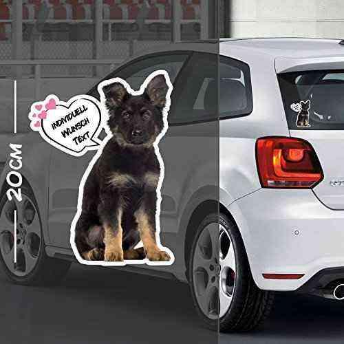 Hunde Aufkleber Motiv #10 | Druck & Cut mit oder ohne Laminat | Individuell mit Wunschtext
