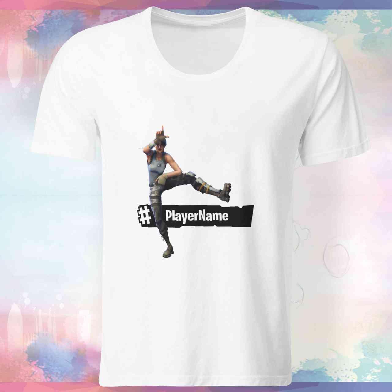 Fortnite Take The L Shirt   mit Player-Name   Battle Royal   T-Shirt   E-Sports - Gamer Nr.2