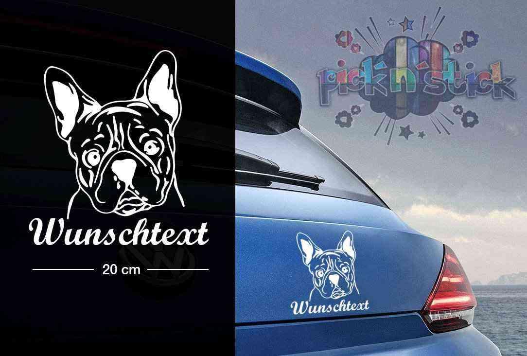 Bulldog #1 | Tier | Wunschtext | Autoaufkleber | Hund