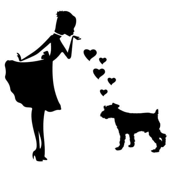 Prinzessin Terrier Herz | Hund | Wunschtext | Auto Aufkleber | Decal