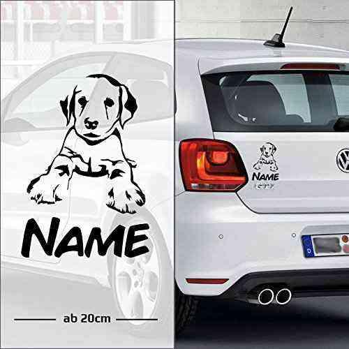 Labrador Retriever | Wunschtext | Name | Auto Aufkleber | Hunde - D