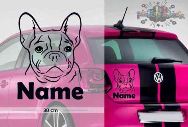 Bulldog #8 | Tier | Wunschtext | Auto Aufkleber | Hund