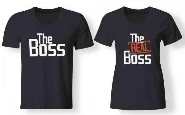 The Boss | The Real Boss - Partner Look | T-Shirt - Funshirt - Shirt