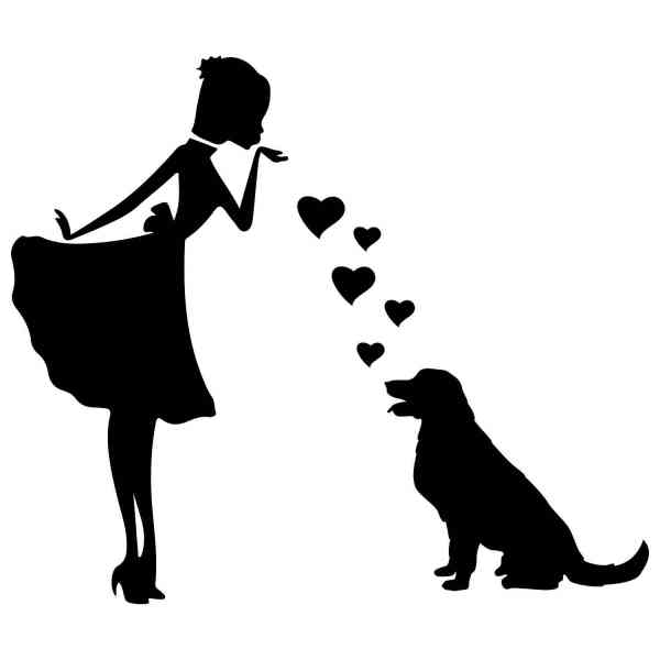 Prinzessin Golden Retriever Herz | Hund | Wunschtext | Auto Aufkleber | Decal