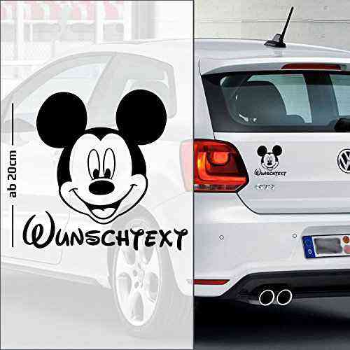 Micky Maus #5 | Baby - Name On Board | Wunschtext | Autoaufkleber | Minnie Maus | Baby On Board