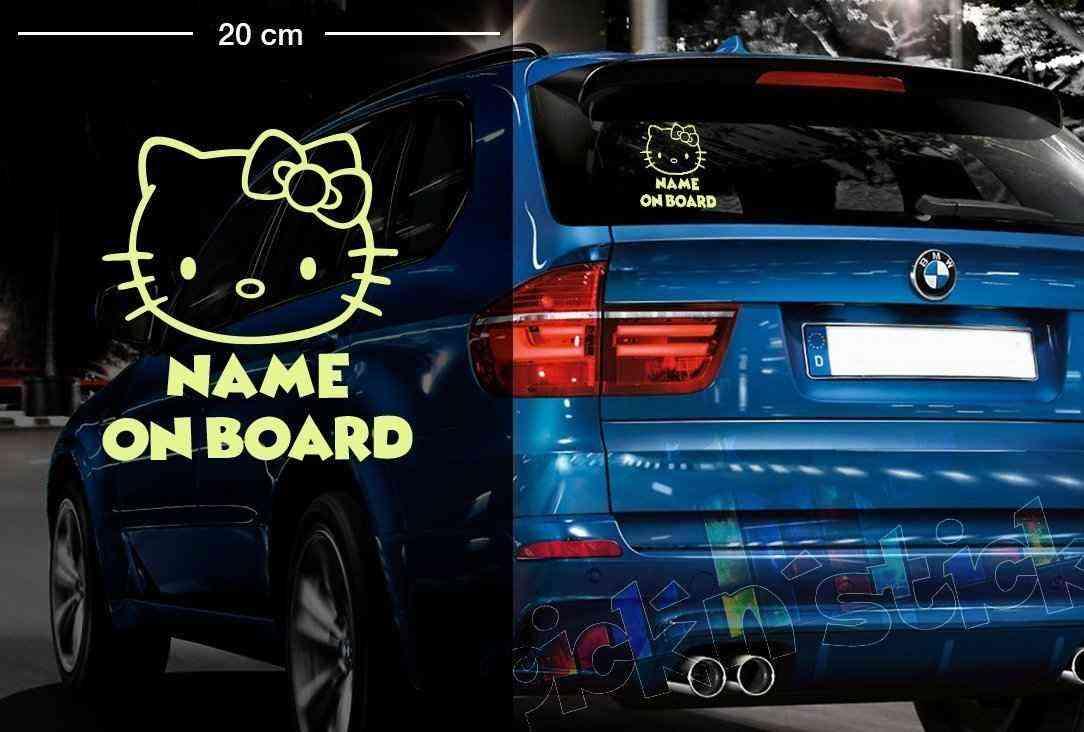 Hello Kitty #2 | Baby - Name On Board | Wunschtext | Autoaufkleber | Lustig