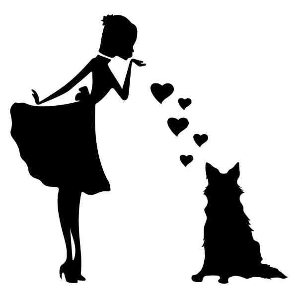 Prinzessin Deutscher Schäferhund Herz | Hund | Wunschtext | Auto Aufkleber | Decal