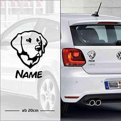 Labrador Retriever   Wunschtext   Name   Auto Aufkleber   Hunde - A