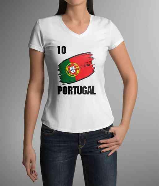 Portugal | Männer oder Frauen Trikot T - Shirt mit Wunsch Nummer + Wunsch Name | WM 2018